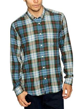 Cottonfield Hemd (Blau/Grün)