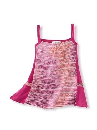 LA Lounge Girl's Sleeveless Tie Dye Dress