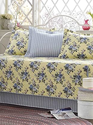 Laura Ashley Linley Daybed Quilt Set, Yellow