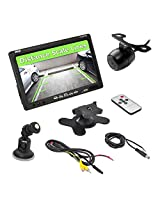 Pyle PLCM7700 7-Inch Window Suction Mount LCD Video Monitor with Universal Mount Rearview, Backup Color Camera and Distance Scale Lines