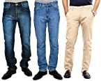 Uber Urban Combo Of 2 Men Jeans And 1 Chinos 13014133SMDNMS20DV MV 5015MCTN1421BG