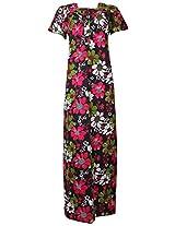 Aisnigha nighties Women's Cotton Night Dress (2, Black, XXL)