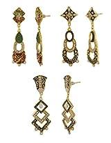 Nisa Pearls combo of dangle & drop earrings for women
