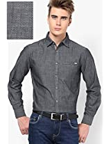 Solid Dark Grey Casual Shirt