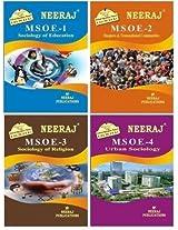 IGNOU MA Sociology Second Year Help Books Combo-MSOE1 | MSOE2 | MSOE3 | MSOE4 in English Medium