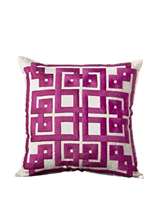 Surya Geometric Throw Pillow (Taupe/Plum)