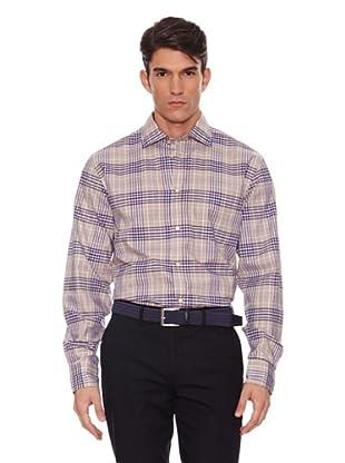 Hackett Camisa Sport (Caqui / Morado)