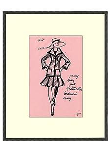 Vintage Women's Dior Fashion Sketch c.1968