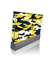 Blue And Gold Yellow Camo Camouflage Wii Console Vinyl Decal Sticker Skin By Moonlight Printing