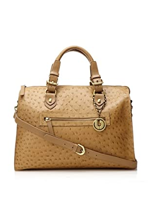 Charles Jourdan Women's Mandy Embossed Ostrich Satchel (Taupe)