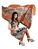 Divisha Fashion Multi Colour Cotton Printed Churiddar Suit with Dupatta