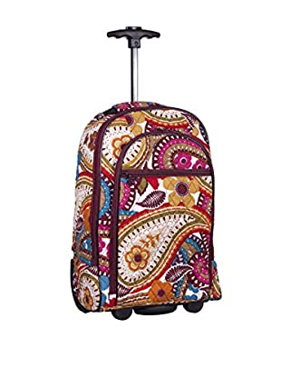 Home Essentials and Beyond Carolyn Rolling Back Pack, Multi
