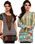 Variation Set Of 2 Printed Kurtis For Women
