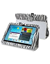 eForCity Leather Case with Stand for 10.1-Inch Samsung Galaxy Tab 2, White/Black Zebra (PSAMGLXTLC37)