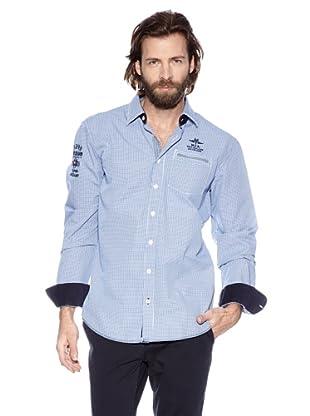 NZA New Zealand Auckland Camisa Manga Larga Licosura (Marino / Azul)