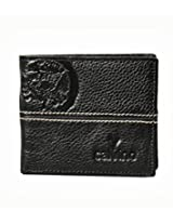 Calvino Trendy Embossed Textured Black Men's Wallet