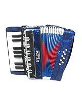 DLuca G104-BL-PL Kids Piano Accordion 17 Keys 8 Bass Blue Perloid