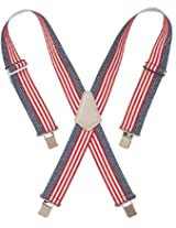 Custom LeatherCraft 110USA Heavy Duty USA Flag Elastic Suspender