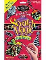 Melissa & Doug Scratch Magic Happy Birthday Stickers
