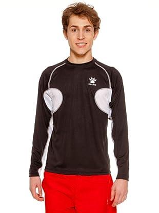 Kelme Camiseta Atletismo Ml Entreno (Negro / Blanco)