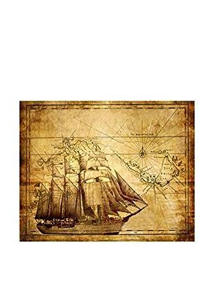 LegendArte  Wandbild Alte Landkarte