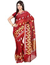 Mimosa Fancy Art Silk Saree Maroon Colour(3128-AP-319-MAROON)