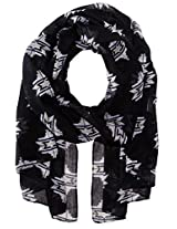RAMPAGE Women's Aztec Light Weight Oblong Scarves, Black/White, One Size