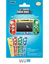 Hori Nintendo Wii U GamePad and Remote Decorative Skin and Screen Filter (New Super Mario Bros U Version)