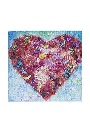 Novità Home Leinwandbild Butterflies Heart