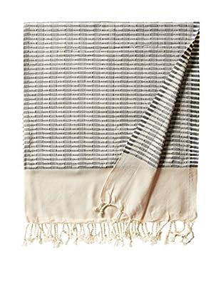 Nomadic Thread Turkish Towel Chic, Natural/Navy