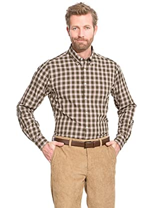 Cortefiel Camisa Twill (Verde Oscuro)