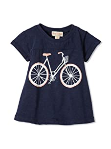 Upper School Girl's Bicycle Babydoll Top (Navy)
