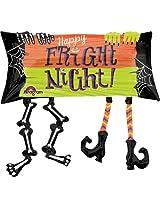 Happy Fright Night Legs Foil Balloon
