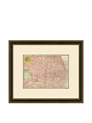 Antique Lithographic Map of St. Louis, 1886-1899