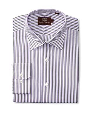 Hickey Freeman Men's Dress Shirt (Purple)