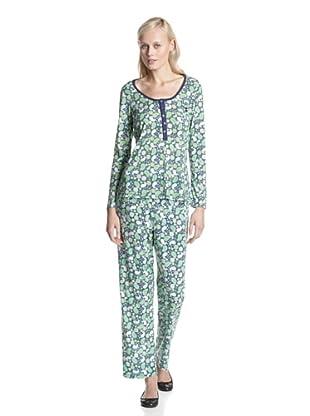 BH PJ's by BedHead Pajamas Women's Placket Pajama Set (Navy Bandana)