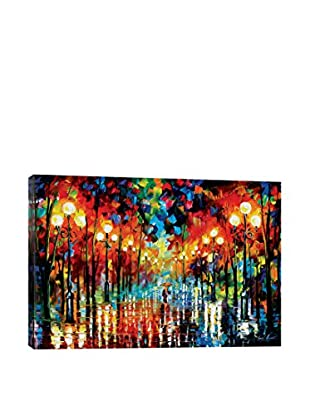 Leonid Afremov A Date With The Rain Canvas Print, Multi, 18