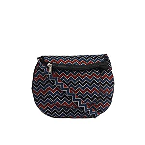 EthnicShack Zigzag Cotton Ajrakh Printed Cross Body Bag