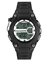 Calypso Black PU Digital Men Watch K5605 1
