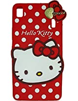 AE Cute Hello Kitty 3D cartoon Silicone With Pendant Back Case Cover For LENOVO A7000 / K3NOTE RED