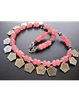 Dreamz Jewels Pink Coin Necklace