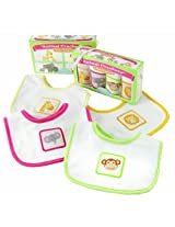 Baby Aspen Animal Crackers for Messy Snackers 4 Piece Bib Set