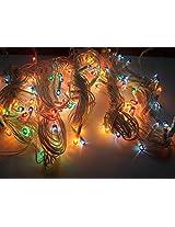 Laxmi Diwali Lights Pack of 5 Rice Lights, 15 Feet Long, 25 Bulbs, Multi Colour Lights x 5