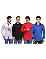 Feed Up Combo of 4 Men's Shirts 42