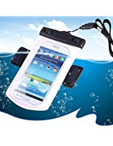 Universal Waterproof Bag with Armband / Lanyard for iPhone / Cell Phone - White (UWBWH)