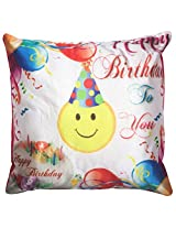Twisha Happy Birthday Smile With Cap Pillow 12 X 12 X 4 Inch
