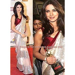 Priyanka chopra beige saree