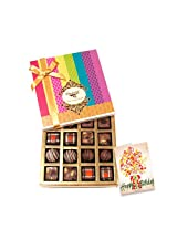 Adorable Chocolate Box With Birthday Card - Chocholik Belgium Chocolates