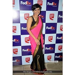 Ninecolours SR0350061 Mandira Bedi Saree - Pink