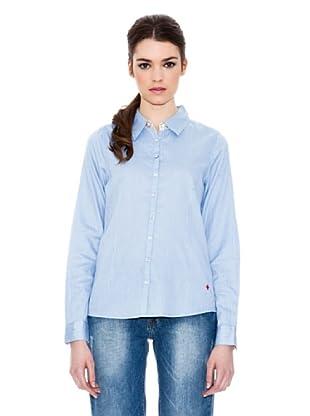 Icode Camisa Flores San Secondo Di Pinerolo Flores (Azul)